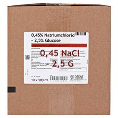 0,45% Natriumchlorid 2,5% Glucose Infusionslsg. 10x500 Milliliter N3 - Vorderseite