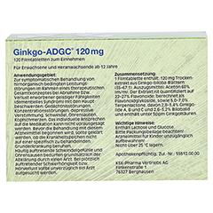 Ginkgo-ADGC 120mg 120 Stück N3 - Rückseite