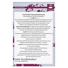 Dr. Pandalis Cystus 052 Bio Halspastillen 66 Stück - Rückseite