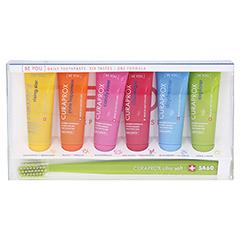 CURAPROX be you Mix-Set 6-Zahnpasten+1-Zahnb. 6x10 Milliliter - Vorderseite