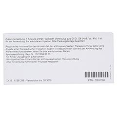 VENTRICULUS GL D 6 Ampullen 10x1 Milliliter N1 - Rückseite