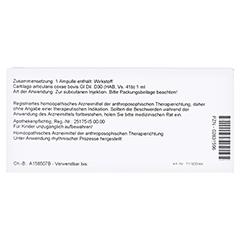 CARTILAGO articularis coxae GL D 30 Ampullen 10x1 Milliliter N1 - Rückseite