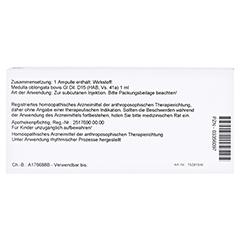 MEDULLA OBLONGATA Ventriculus quartus GL D 15 Amp. 10x1 Milliliter N1 - Rückseite