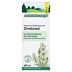 Zinnkraut naturreiner Heilpflanzensaft Schoenenberger 200 Milliliter - Vorderseite