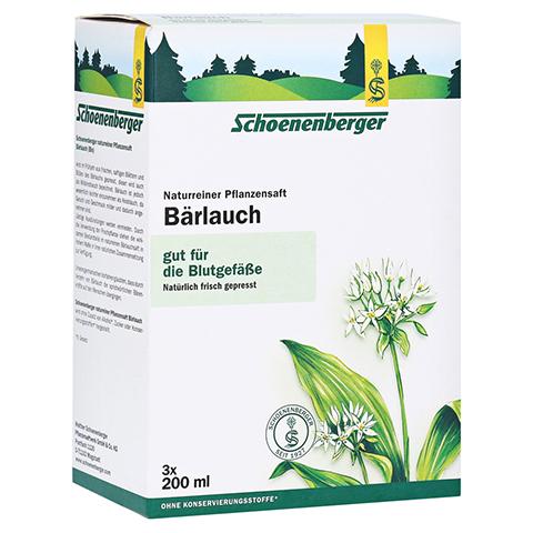 BÄRLAUCH SAFT Schoenenberger Heilpflanzensäfte 3x200 Milliliter