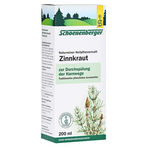 Zinnkraut naturreiner Heilpflanzensaft Schoenenberger 200 Milliliter