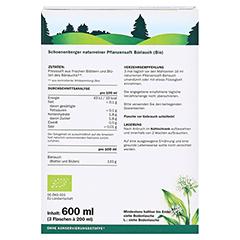 BÄRLAUCH SAFT Schoenenberger Heilpflanzensäfte 3x200 Milliliter - Rückseite