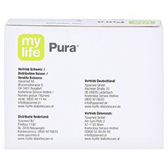 MYLIFE Pura Blutzucker Teststreifen 50 Stück - Rückseite