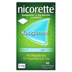 Nicorette 2mg whitemint 30 Stück - Vorderseite