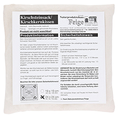 KIRSCHKERNKISSEN 24x24 cm natur 1 Stück - Vorderseite