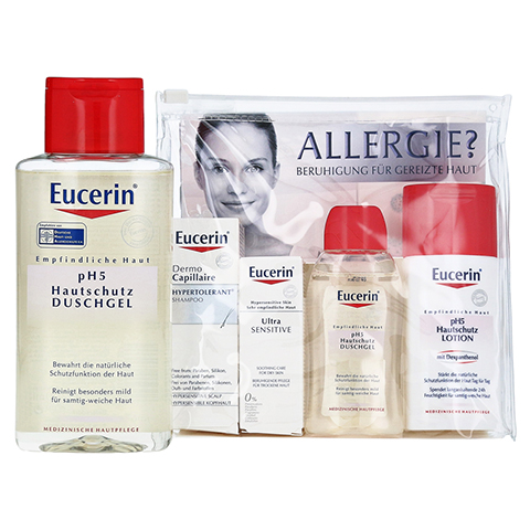 EUCERIN pH5 Soft Duschgel + gratis Eucerin Allergie Probierset 200 Milliliter