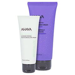 AHAVA Extreme Hals und Dekolleté Creme + gratis AHAVA Hand Cream Spring Blossom 100ml 75 Milliliter