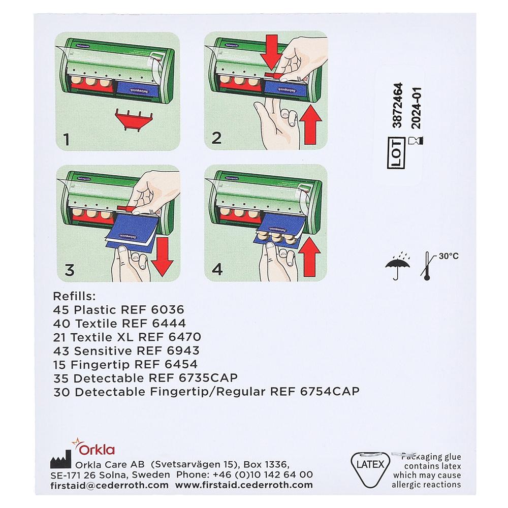YPSITECT/® Pflasterstrips 100 St/ück wasserfest 2,5 x 7,2 cm
