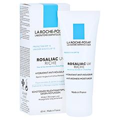 La Roche-Posay Rosaliac UV Riche Reichhaltige Feuchtigkeitspflege mit UV-Schutz gegen Rötungen + gratis La Roche Posay Rosaliac Mizellen-Reinigungsgel 40 Milliliter