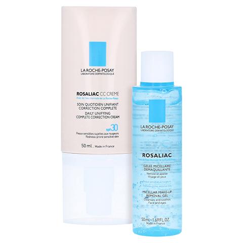 La Roche-Posay Rosaliac CC Creme Tagespflege bei Hautrötungen + gratis La Roche Posay Rosaliac Mizellen-Reinigungsgel 50 Milliliter