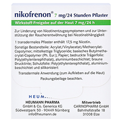 Nikofrenon 7mg/24 Stunden Heumann 7 Stück - Rückseite