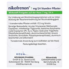 Nikofrenon 7mg/24 Stunden Heumann 14 Stück - Rückseite
