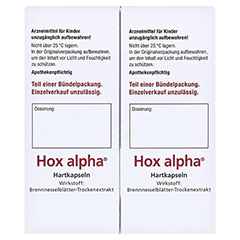 Hox alpha 200 Stück - Linke Seite