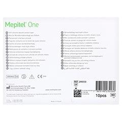 MEPITEL One 7,5x10 cm Silikon Netzverband 10 Stück - Rückseite