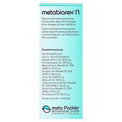 METABIAREX N Mischung 100 Milliliter - Rückseite