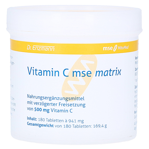 VITAMIN C MSE Matrix Tabletten 180 Stück