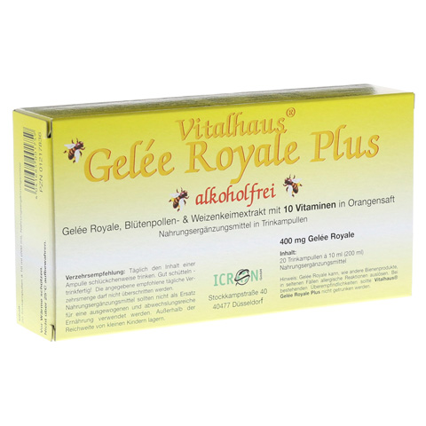 GELEE ROYALE Plus ohne Alkohol Trinkampullen 20x10 Milliliter