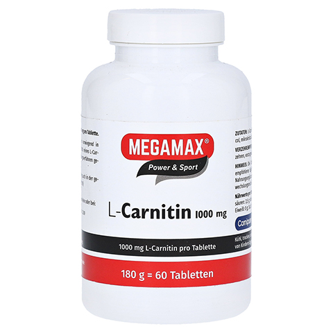 MEGAMAX L Carnitin 1000 mg Tabletten 60 Stück