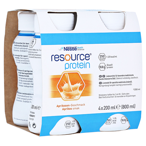 RESOURCE Protein Drink Aprikose 4x200 Milliliter