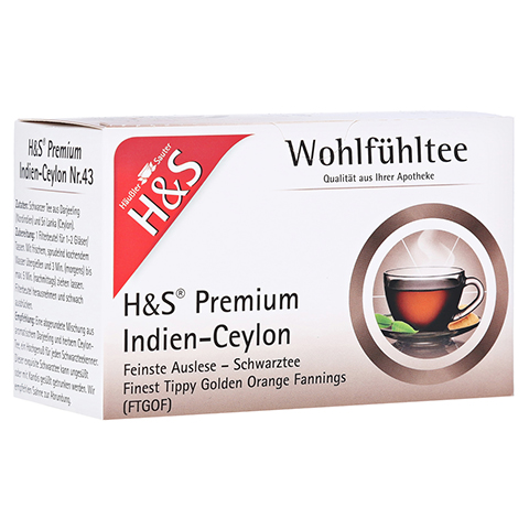 H&S Schwarztee Premium Indien-Ceylon Filterbeutel 20 Stück