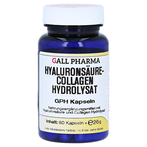 hyalurons ure collagen hydrolysat gph kapseln 60 st ck online bestellen medpex versandapotheke. Black Bedroom Furniture Sets. Home Design Ideas