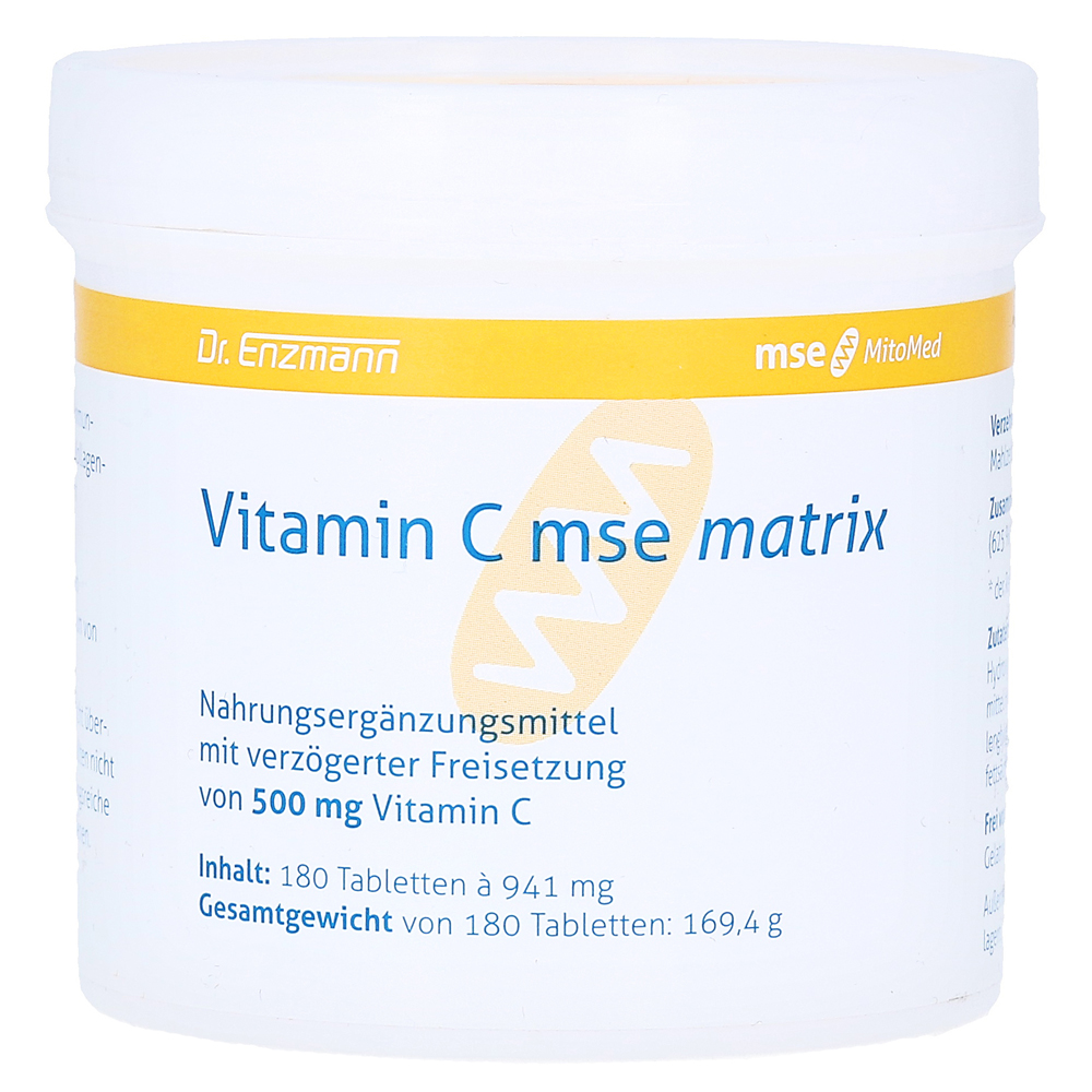 vitamin c mse matrix tabletten 180 st ck online bestellen medpex versandapotheke. Black Bedroom Furniture Sets. Home Design Ideas