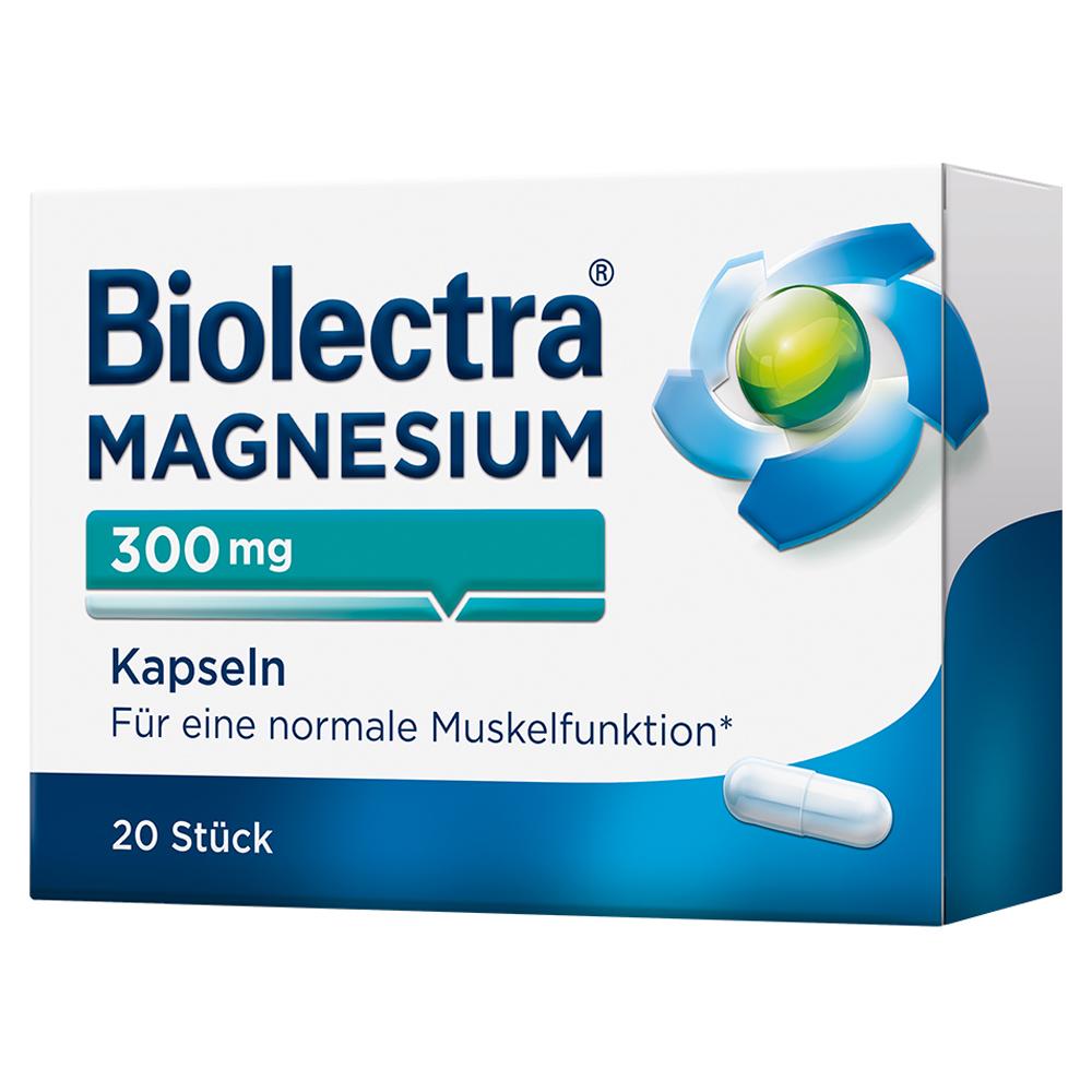 Hermes Arzneimittel GmbH BIOLECTRA Magnesium 300 Kapseln 20 Stück
