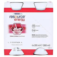 RESOURCE Energy Erdbeer/Himbeer 4x200 Milliliter - Vorderseite