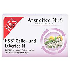 H&S Galle- und Lebertee N Filterbeutel 20 Stück - Vorderseite