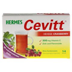 HERMES Cevitt heiße Cranberry Granulat 14 Stück - Vorderseite