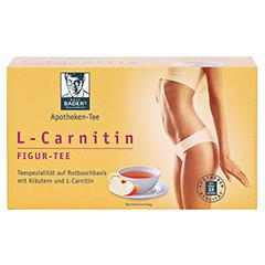 BADERS Aktiv Tee L-Carnitin Filterbeutel 20 Stück - Vorderseite