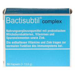 BACTISUBTIL Complex Kapseln 50 Stück - Vorderseite