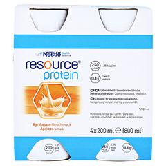 RESOURCE Protein Drink Aprikose 4x200 Milliliter - Vorderseite