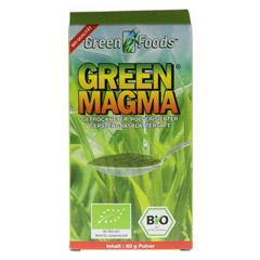 GREEN MAGMA Gerstengrasextrakt Pulver 80 Gramm - Vorderseite