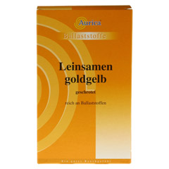 LEINSAMEN goldgelb geschrotet 500 Gramm - Vorderseite