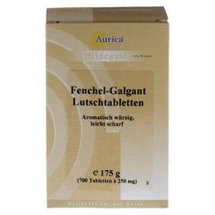 Fenchel Galgant Lutschtabl. Aurica 700 Stück - Vorderseite