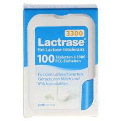 LACTRASE 3.300 FCC Tabletten im Klickspender 100 Stück - Vorderseite