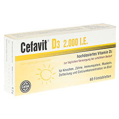 CEFAVIT D3 2.000 I.E. Filmtabletten 60 Stück