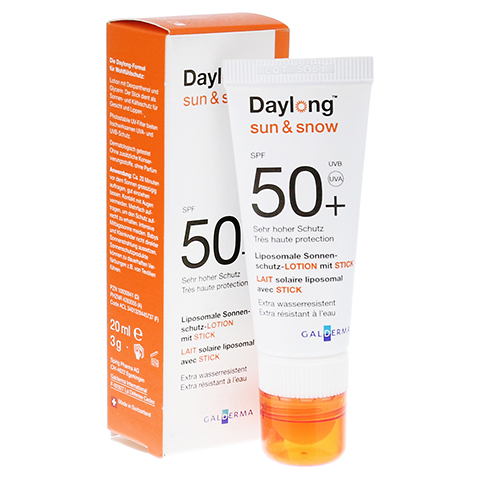 DAYLONG Sun & Snow Kombi SPF 50+ Lotion+Stick 1 Packung