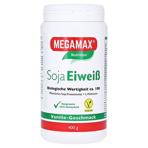 Megamax Soja Eiweiß Vanille Pulver 400 Gramm