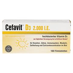 CEFAVIT D3 2.000 I.E. Filmtabletten 100 Stück - Vorderseite