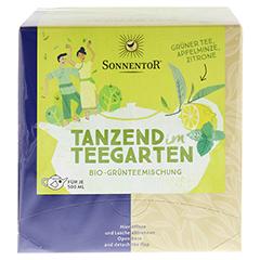 """Sonnentor """"Tanzend im Teegarten"""" Kannenbeutel 30 Gramm - Vorderseite"""