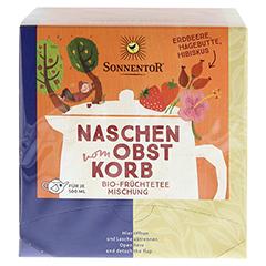 """Sonnentor """"Naschen vom Obstkorb"""" Kannenbeutel 36 Gramm - Vorderseite"""