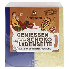 """Sonnentor """"Genießen auf der Schokoladenseite"""" Kannenbeutel 42 Gramm - Vorderseite"""