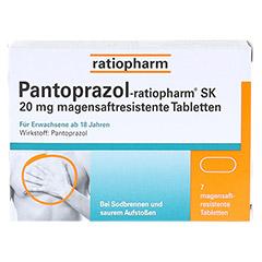 Pantoprazol-ratiopharm SK 20mg 7 Stück - Vorderseite